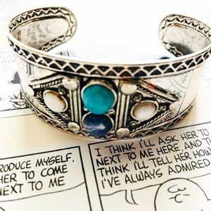 NEW 3 FOR 35 WESTERN TURQUOISE AND LAPIZ CUFF